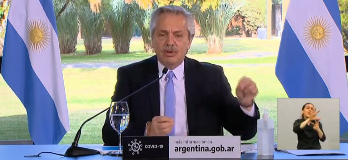 «La libertad se pierde cuando uno muere», dijo Alberto Fernández