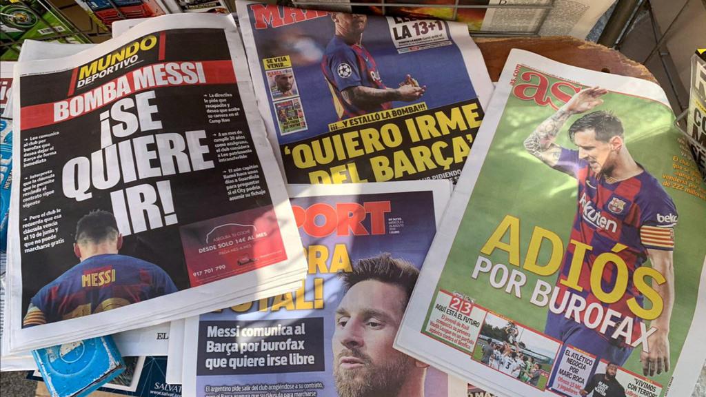Barcelona intenta sobreponerse del shock tras la «bomba» lanzada por Messi