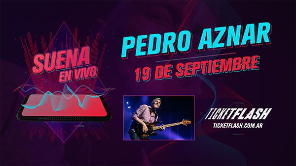 Pedro Aznar con banda brindará un show online