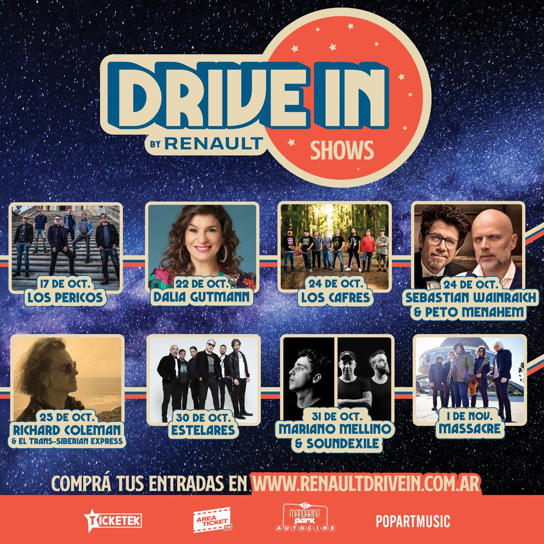 RENAULT DRIVE IN: Un nuevo ciclo de espectáculos en Mandarine Park