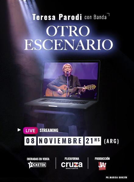 """Teresa Parodi presentará """"Otro Escenario"""" junto a su banda en un concierto virtual"""