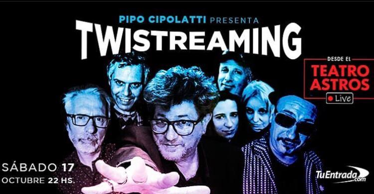 Pipo Cipolatti presenta «Twistreaming» en el Teatro Astros