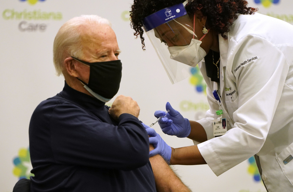Joe Biden receives COVID-19 vaccination