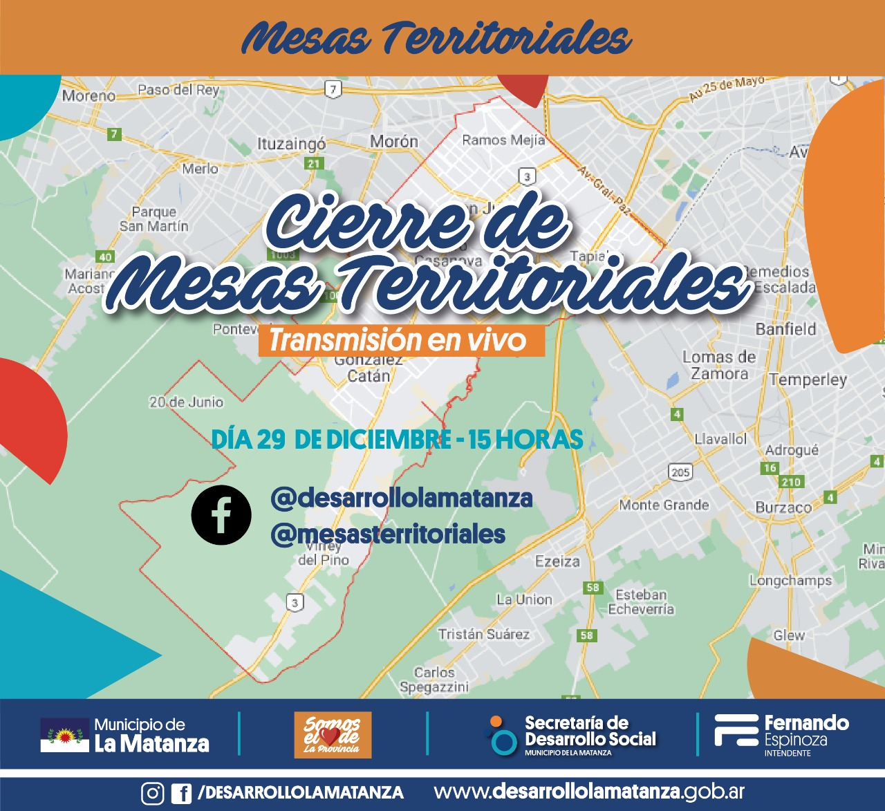 Cierre del año virtual de las Mesas Territoriales de la Secretaría de Desarrollo Social