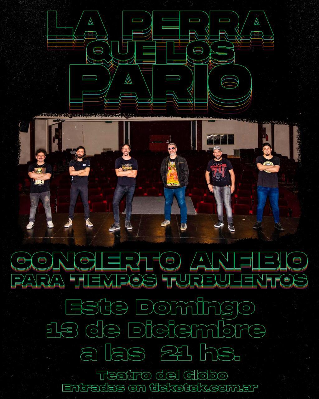 """"""" La Perra Que Los Parió"""" concierto anfibio para tiempos turbulentos en el Teatro del Globo por streaming"""