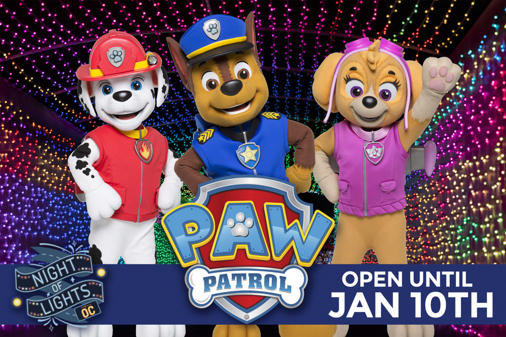 Night of Lights OC Celebrates the New Year with PAW Patrol and a Salute to Community Heroes Night with FREE Admission for Healthcare and Frontline Workers