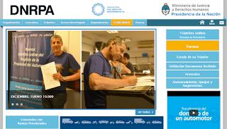 Acceso a la página Web Dnrpa
