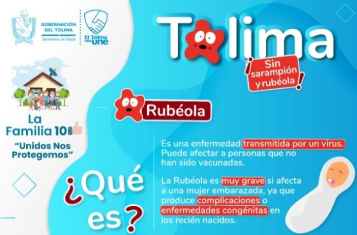 El Tolima sigue en la lucha contra el Sarampión y la Rubéola 2