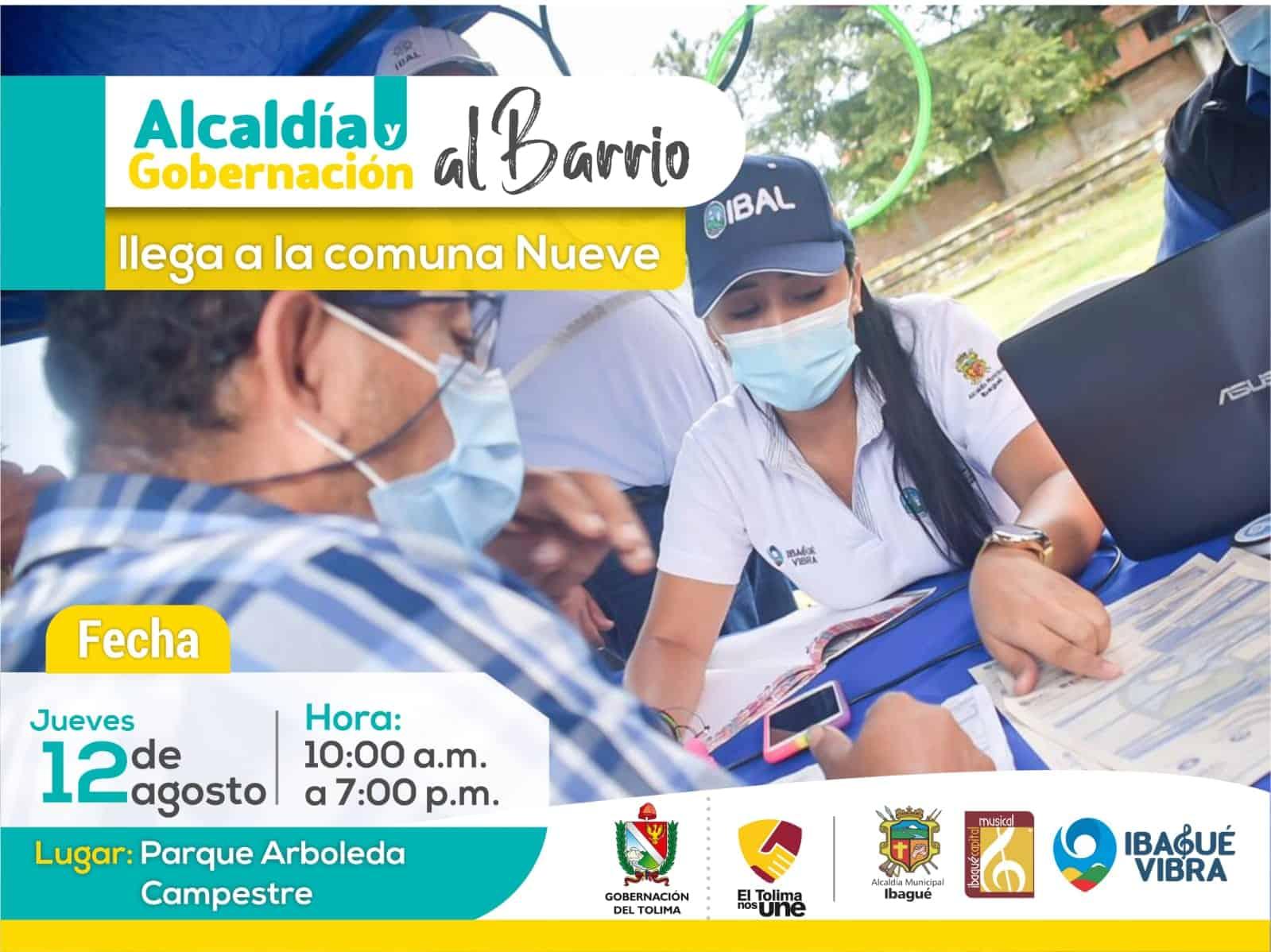 Este jueves 12 de agosto 'Alcaldía y Gobernación al Barrio' estará en la comuna Nueve. 1