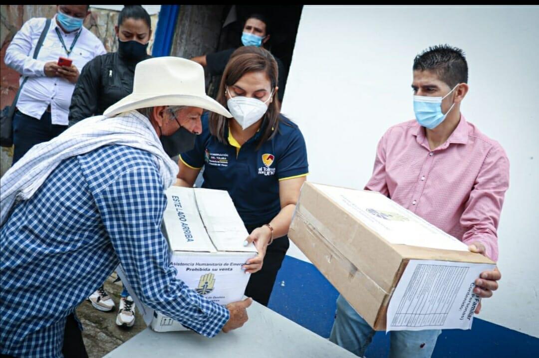 17 municipios del Tolima recibirán ayudas humanitarias. 1