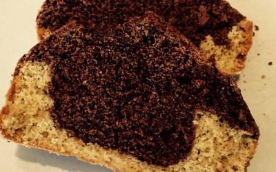 Bizcocho marmolado con harina de quinoa