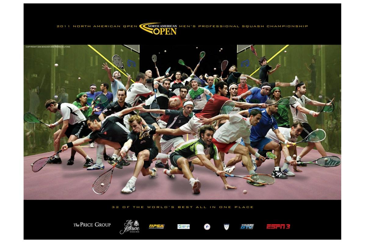 Plakat turnieju squash North America Open 2011