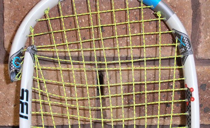 Pęknięta rakieta squash