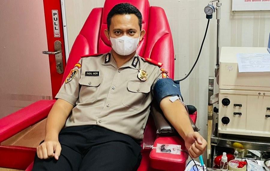 Sespimmen Polri Angkatan 61 Gelar Donor Darah di Gedung PMI Bogor