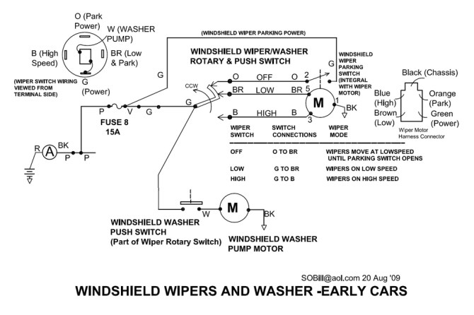 i need a windshield wiper wiring diagram for a pantera  the