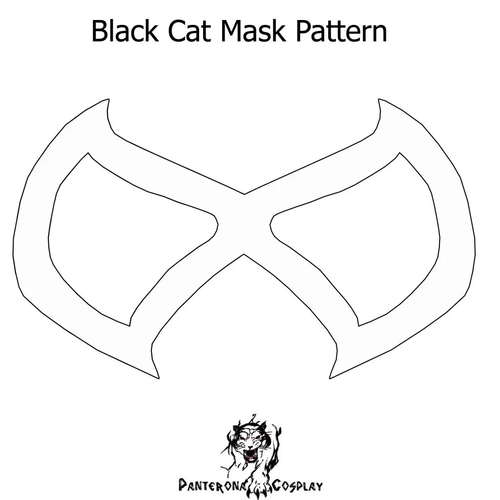 Black Cat Mask Pattern