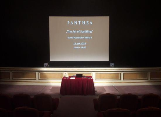 Conférence sur « L'Art du Surtitrage » au Théâtre national Dona Maria II à Lisbonne
