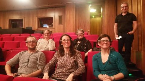 Captioning via smartglasses for D/deaf & people with hearing impairmentsKasimir und Karoline | Schauspiel Leipzig | 2018