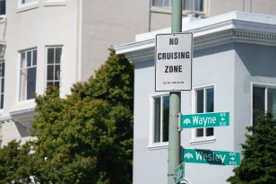 No cruising sign at Lake Merritt