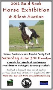 2012 Bald Rock Horse Exhibition Poster
