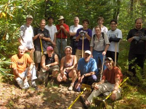 Friends of Panthertown Volunteers at September 2010 Trail Work Day