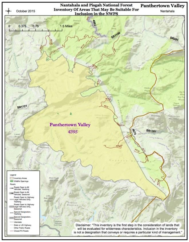 PANTHERTOWN VALLEY NWPS MAP OCT 2015