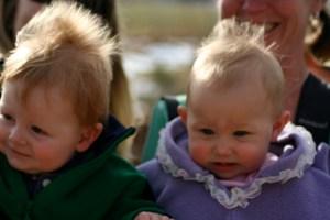 Ewan & Lola, with surprising similar hairdos.