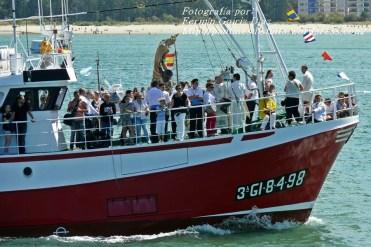 Procesión Marítima en honor de la Patrona de Cedeira - Cedeira, 16 de agosto de 2012 - fotografía por Fermín Goiriz Díaz (156)