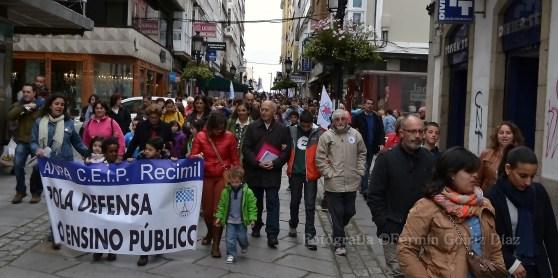 Contra la LOMCE - Huelga General en la Enseñanza Pública en Ferrol - Foto por Fermín Goiriz Díaz, 09-05-2013 (10)