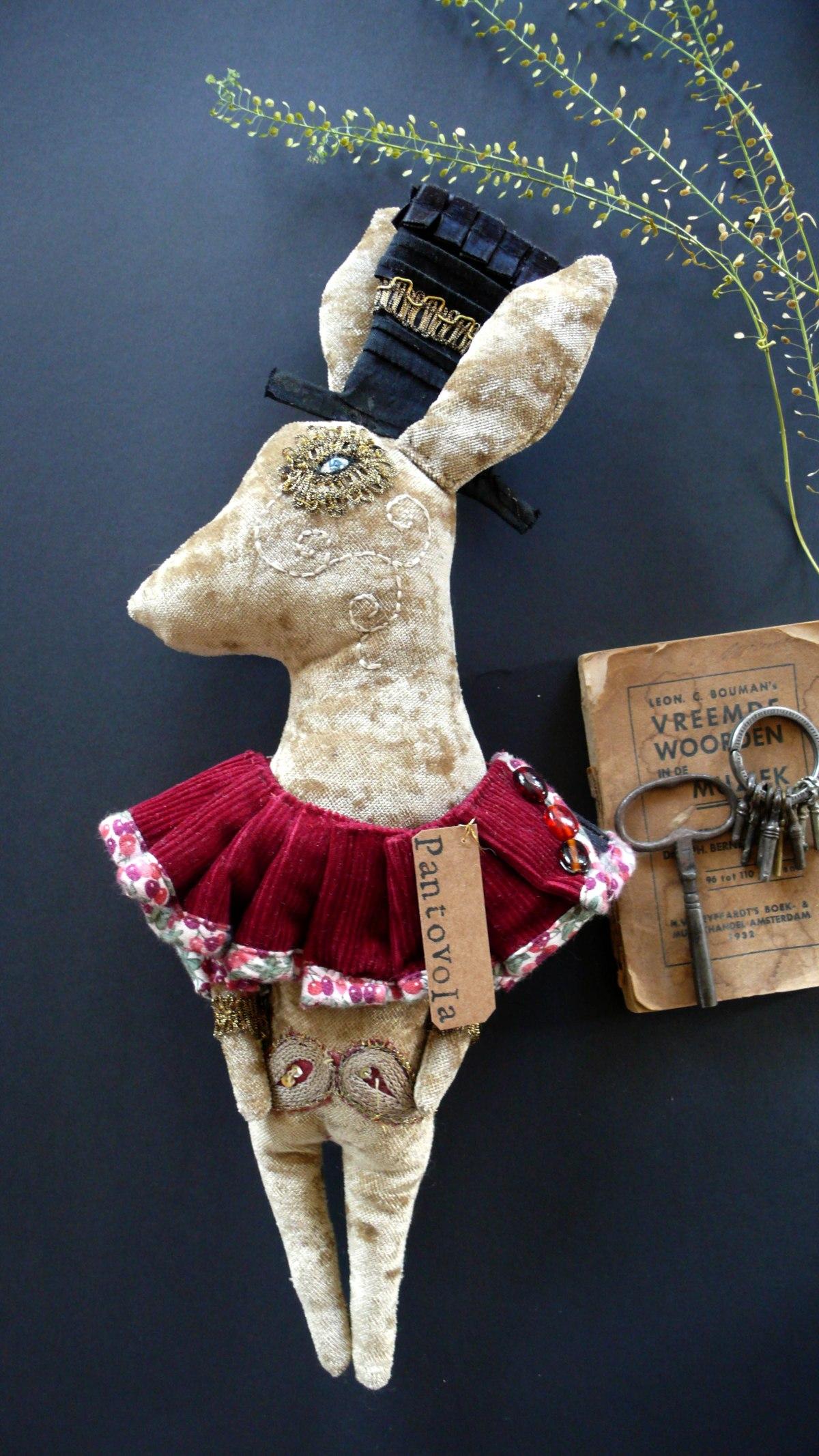 art doll textile art