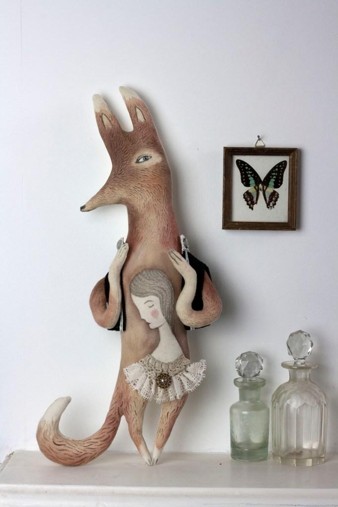 fox art doll