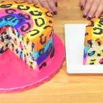 Rainbow Leopard Cake Video Recipe Is Easy to Follow.