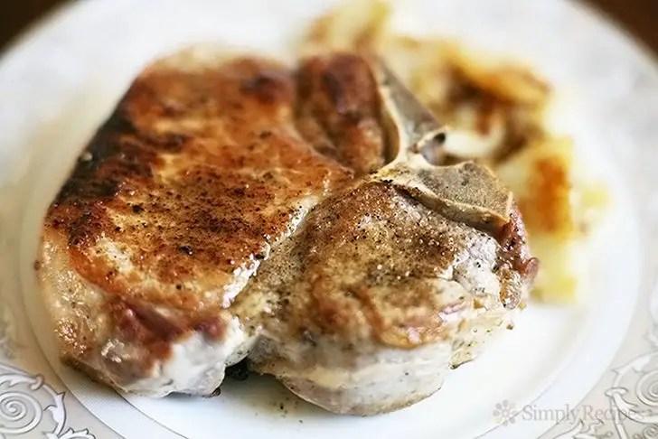 7 Pork Chop Recipes - Mom's Perfect Pork Chops.