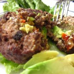 Avocado, Sun Dried Tomato and Goat Cheese Burgers