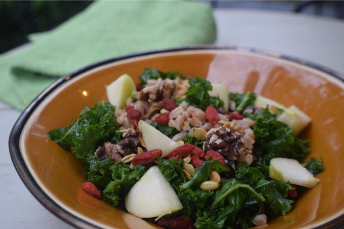 autumn harvest superfood salad