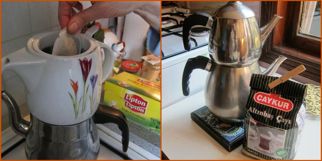 2 pics of Aysen's tea and Lesley's tea