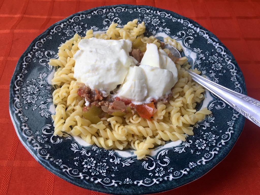 Fake Manti Pasta sauce