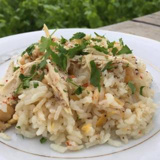 Chicken and Rice with Chickpeas by Seasonal Cook in Turkey