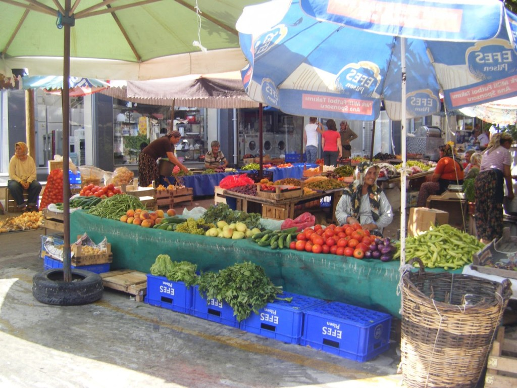 Turkish vegetables market