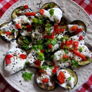 Chargrilled aubergines