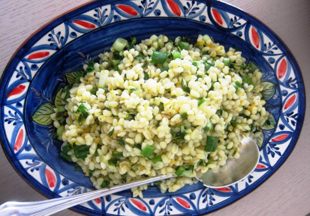 wheat salad with orange and fresh thyme