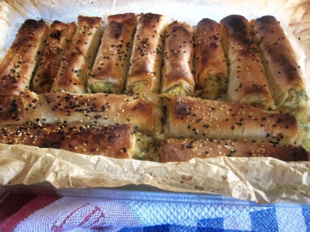oven-baked kabaklı börek