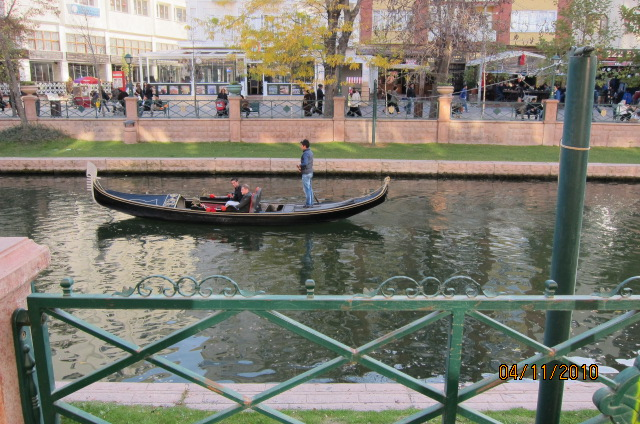 Eskişehir gondola on the canal in the middle of the city