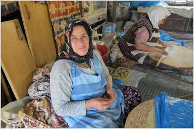 ocal women making mantı at the Seven Sleepers cafe