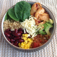 Chipotle Chicken Quinoa Burrito Bowl