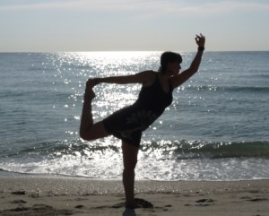 Simple yoga sequence at home