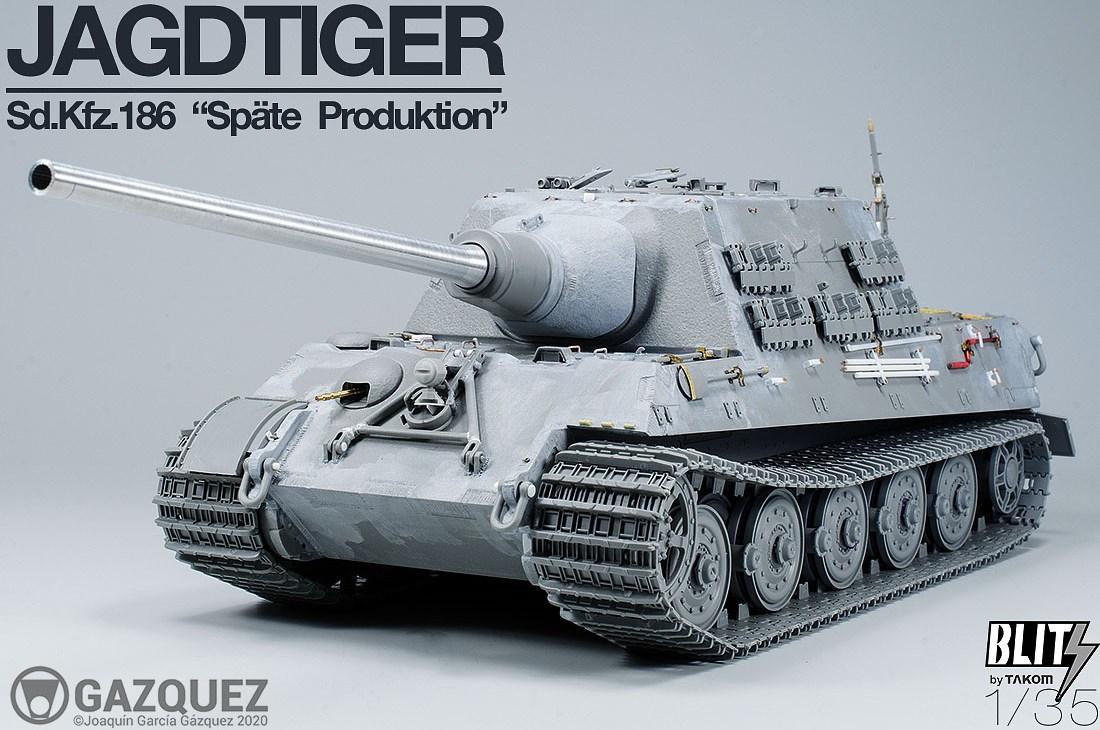 Jagdtiger Sd.Kfz.186 Späte Produktion. Ready to Paint