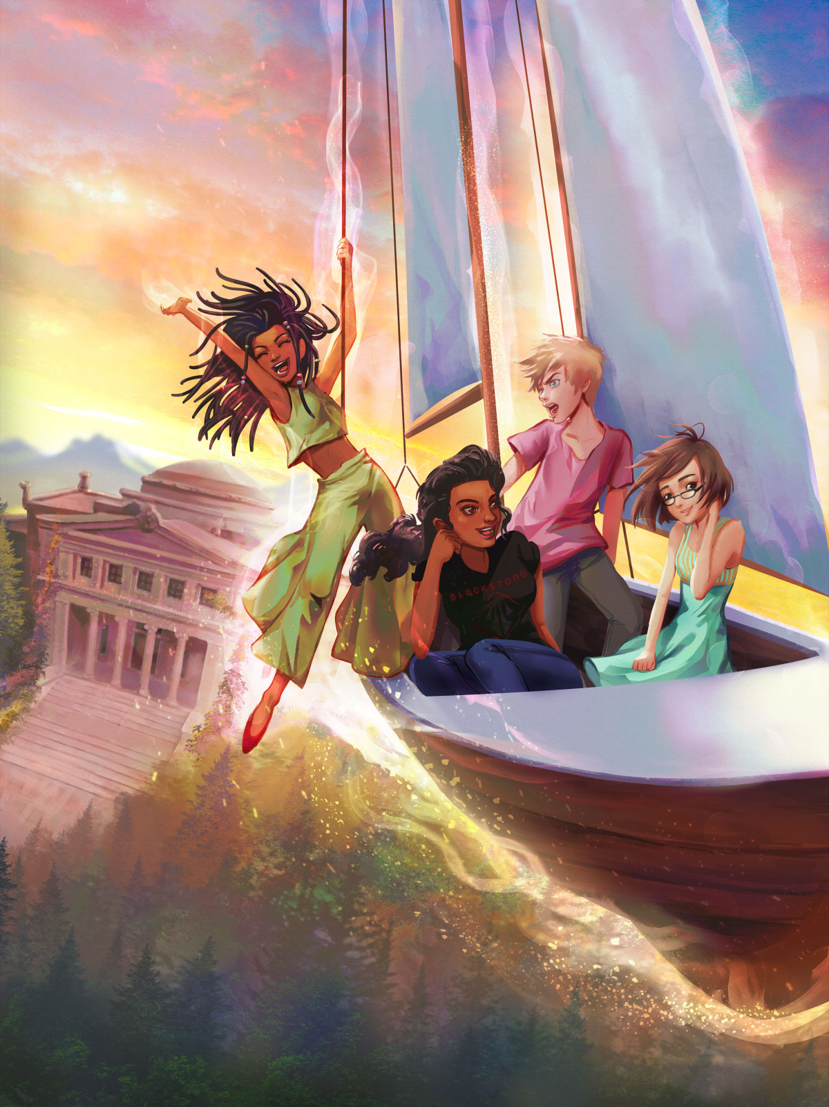 Paola-Tuazon - Blackstone Academy - Choice of Games Cover Art