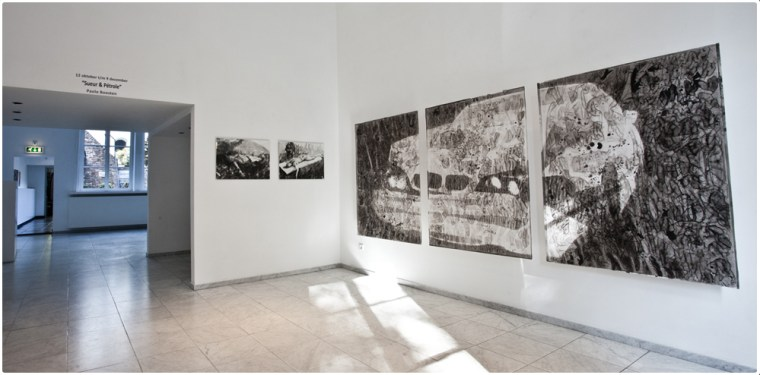 Paolo Boosten Sueur & Pétrole exhibition view at Galerie Dis in Maastricht, 2018.