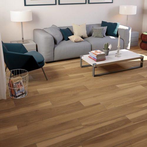 Pavimento in gres porcellanato effetto legno marrone
